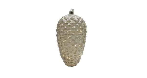 Crystal závěsná zlatá šiška 10 LED