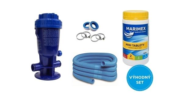 Dávkovač chloru Marimex + Marimex Minitablety + příslušenství