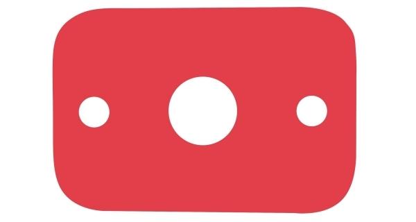 Deska plavecká - červená