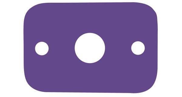 Deska plavecká - fialová