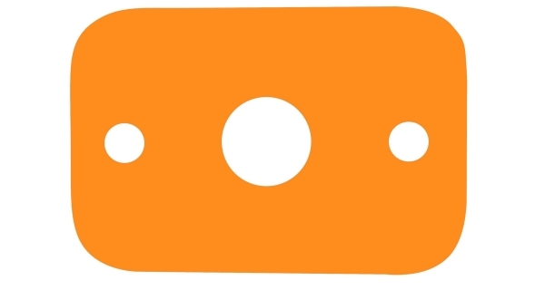 Deska plavecká  - oranžová