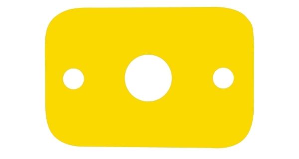 Deska plavecká - žlutá