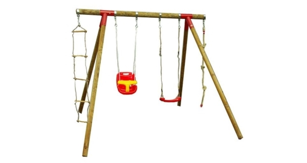 Dětská dřevěná houpačka Marimex 11