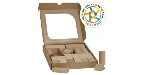 Dětské dřevěné kostky 25 ks