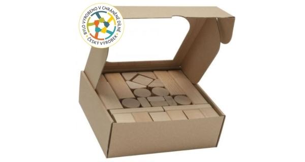 Dětské dřevěné kostky 50 ks