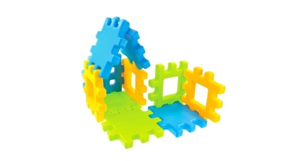 Dětské plastové kostky Wafle 20 ks