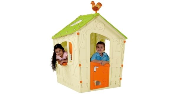 Dětský domeček Magic Play House - béžová + zelená