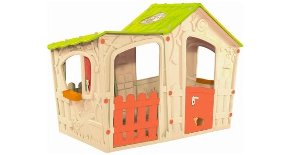 Dětský domeček Magic Villa - béžová + zelená