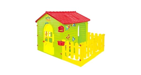 Dětský domeček Mochtoys s plotem
