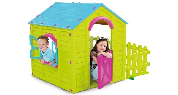 Dětský domeček MY Garden House - zelená + modrá