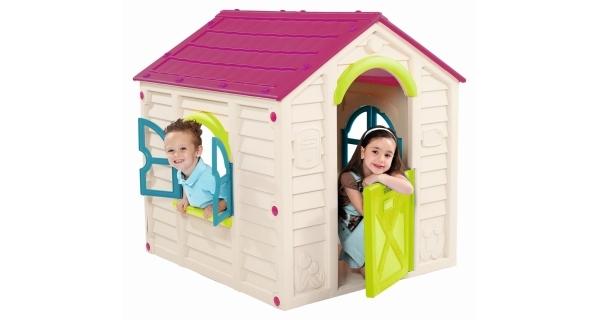 Dětský domeček Rancho Play House - fialová + béžová