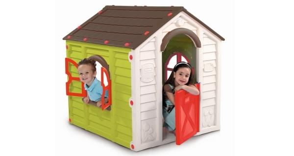 Dětský domeček Rancho Play House -hnědá + zelená