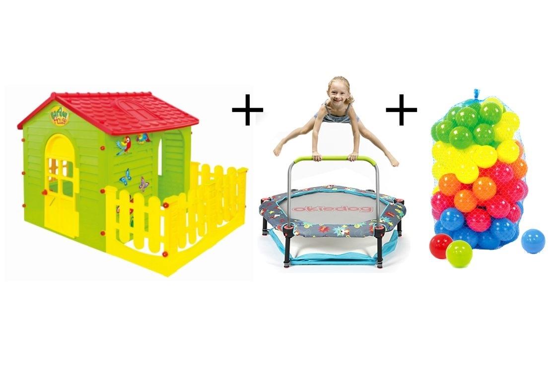 Marimex Dětský domeček + trampolína 4v1 Superheroes + plastové míčky - 19900093