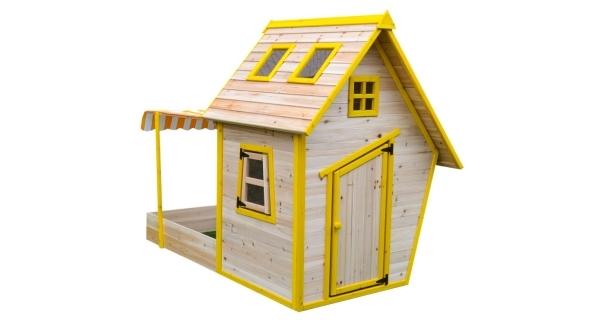 Dětský dřevěný domeček s pískovištěm Flinky