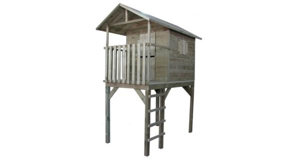 Dětský dřevěný domeček s žebříkem Vyhlídka
