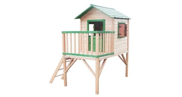 Dětský dřevěný domeček Stáj s platformou