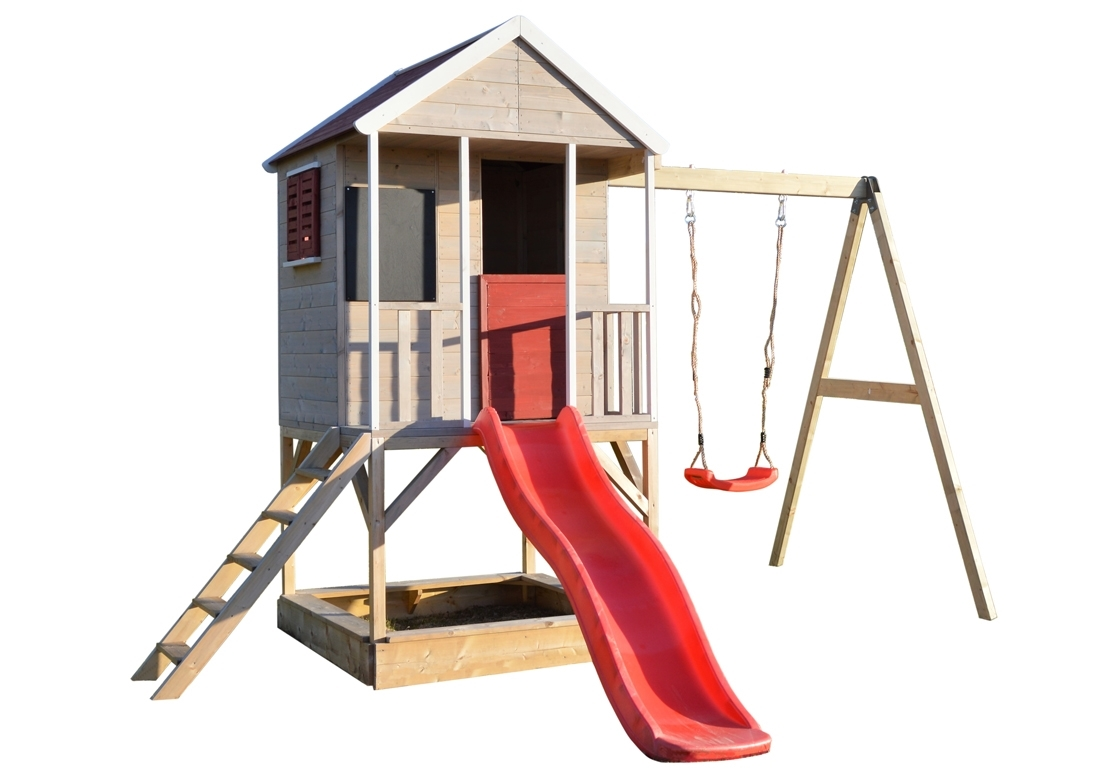 Marimex Dětský dřevěný domeček Veranda s houpačkou - 11640371