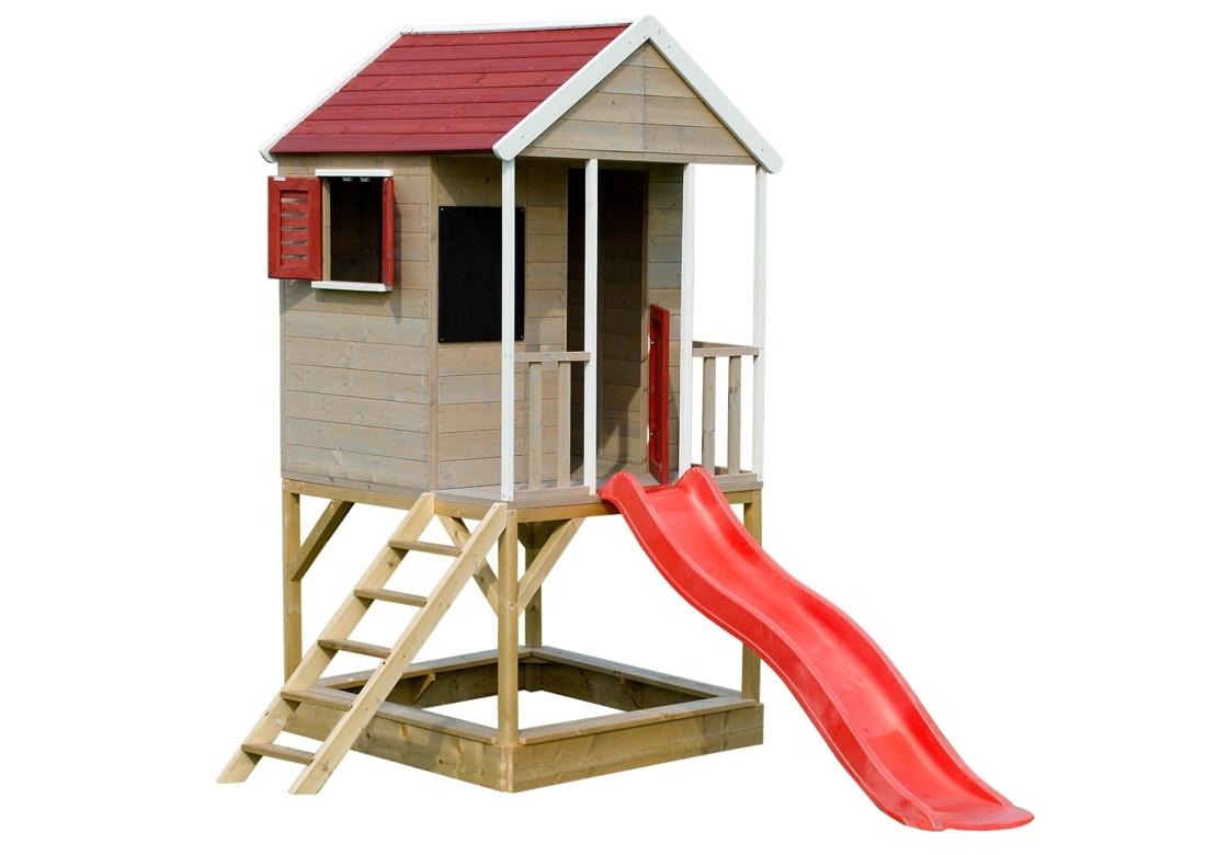 Marimex Dětský dřevěný domeček Veranda se skluzavkou - 11640361