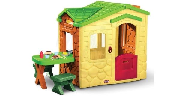 Domek s piknikovým stolkem - natural