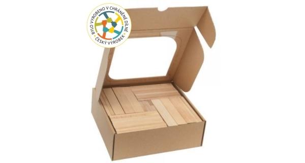 Dřevěná stavebnice - 128 ks