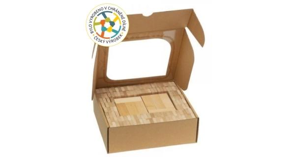 Dřevěná stavebnice domino - 200 ks
