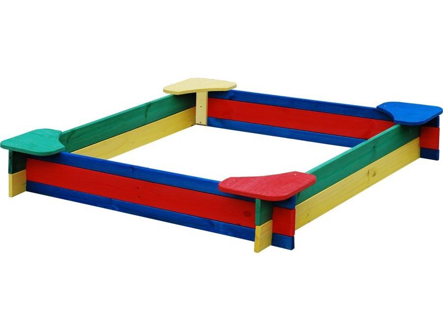 Dřevěné barevné pískoviště - 11640056