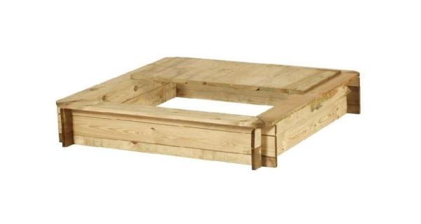 Dřevěné pískoviště čtyřhranné s krytem
