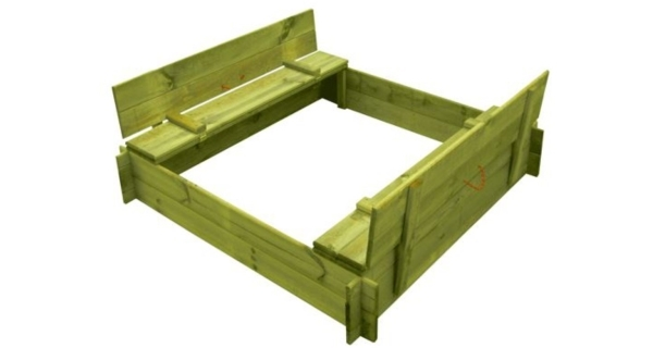 Dřevěné pískoviště čtyřhranné s krytem/lavičkou