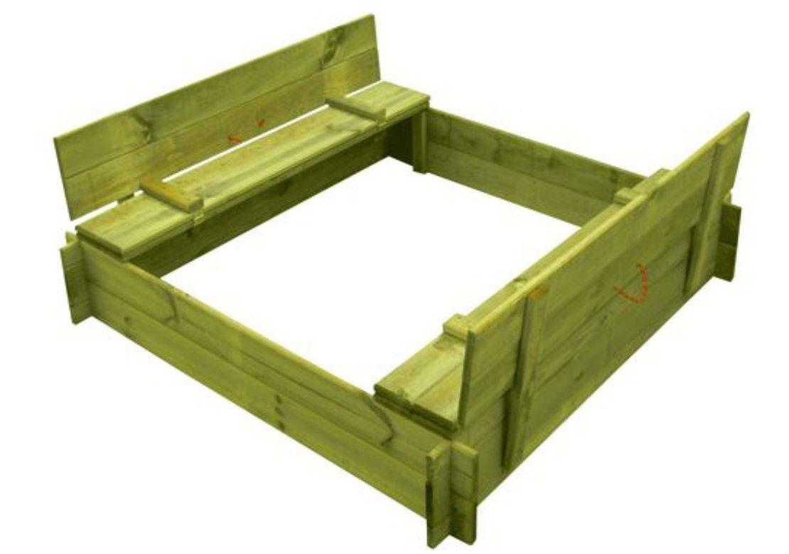 Marimex Dřevěné pískoviště čtyřhranné s krytem/lavičkou - 11640357