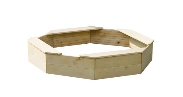 Dřevěné pískoviště osmihranné