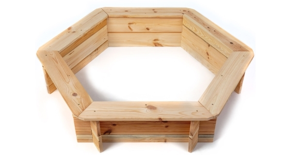 Dřevěné pískoviště šestihranné