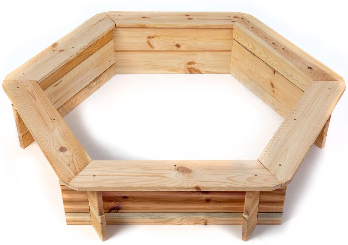 Marimex Dřevěné pískoviště šestihranné - 11640432