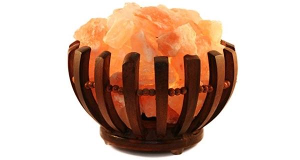 Elektrická dřevěná miska se solnými krystaly 2-3 kg - kulatá