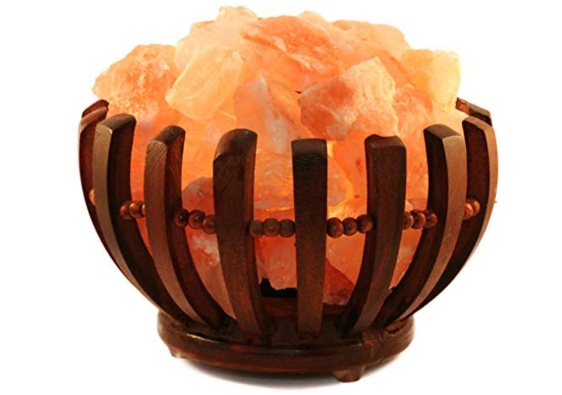 Marimex Elektrická dřevěná miska se solnými krystaly 2-3 kg - kulatá - 11105892