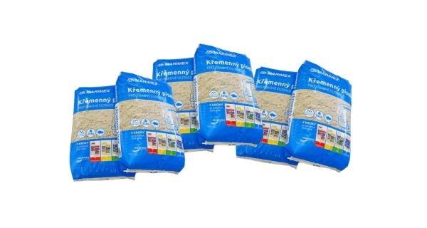 Filtrační písek - 6 x 25 kg