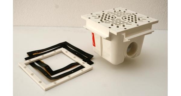 Gula-spodní výpusť čtvercová plast 210 x 210 pro folii Astral 00273