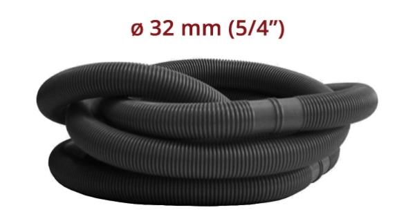 """Hadice v metráži Ø 5/4"""" (32 mm) -  díl 1,25m černá 10 kusů"""