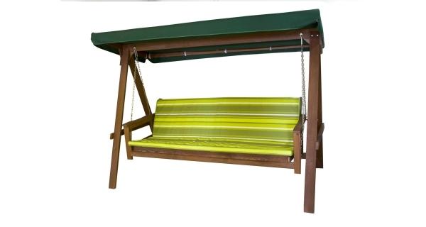 Houpačka dřevěná Adelaida zelená