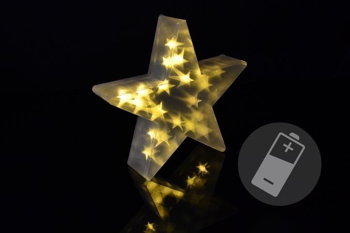 Hvězda vánoční 20 LED - teplá bílá - 18000151