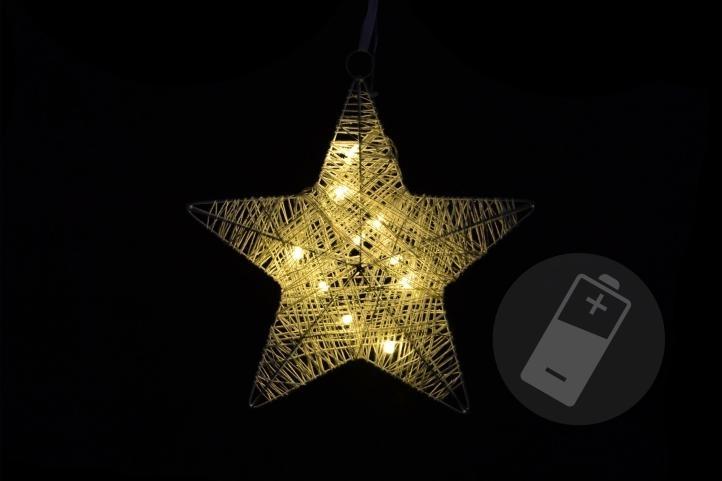 Hvězda vánoční 25 cm - 10 LED - 18000139