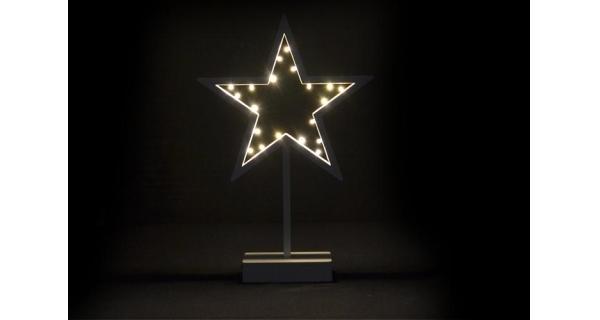 Hvězda vánoční stojící 20 LED - zlatá