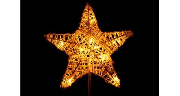 Hvězda vánoční stojící - 40 cm - 10 LED