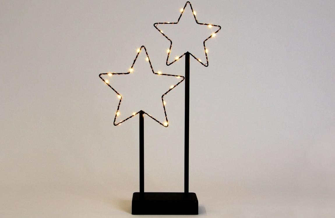 Hvězdy 25 LED - černá - 18000218