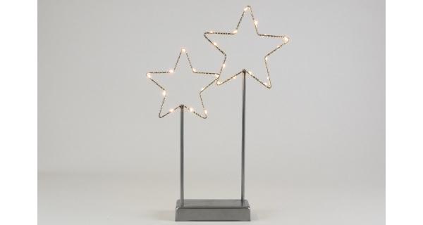 Hvězdy 25 LED - šedá