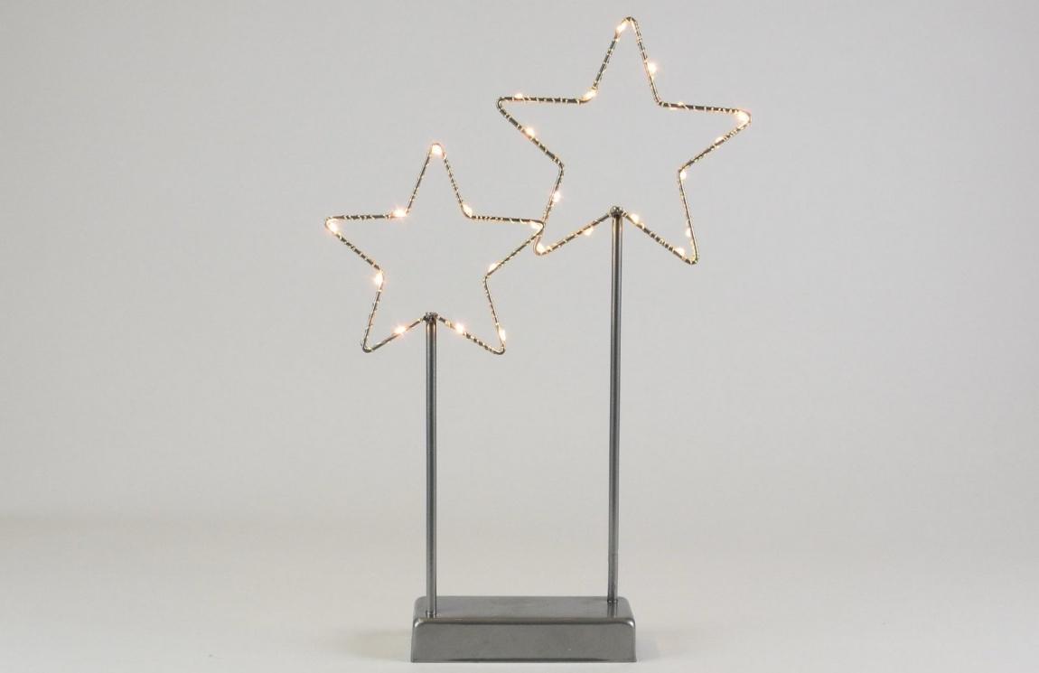 Hvězdy 25 LED - šedá - 18000216