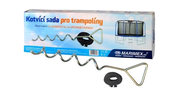 Kotvicí sada (3 ks) pro trampolíny