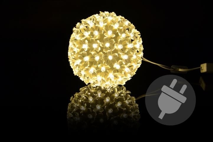 Koule vánoční LED 12 cm - teplá bílá - 18000193