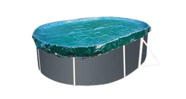 Krycí plachta SUPREME pro oválné bazény Orlando Premium 3,66 x 7,32 m - zelená