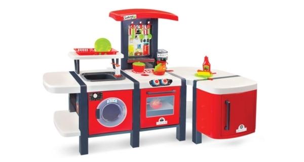 Kuchyňka Mochtoys s ledničkou a příslušenstvím
