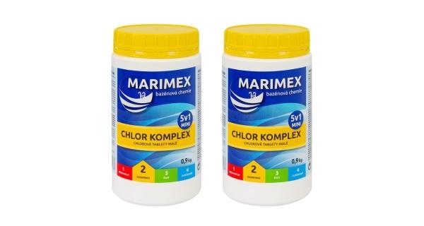 Marimex Chlor Komplex Mini 5v1 0,9kg - sada 2 ks